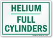 Helium Full Cylinders Sign