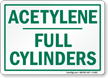 Acetylene Full Cylinders Sign