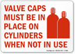 Gas Cylinder Sign