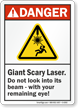 ANSI Danger Humorous Sign