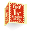 Projecting Fire Equipment Sign with Graphic
