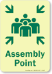 GlowSmart™ Assembly Point Sign