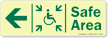 GlowSmart™ Directional Exit Sign, Handicap Area Sign