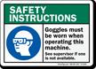 OSHA Safety Instructions Sign