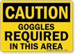 OSHA Caution PPE Eye Protection Sign