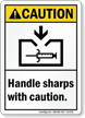 Handle Sharps With Caution Sign
