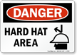 Danger Hard Hat Area Sign