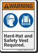 ANSI PPE Warning Sign