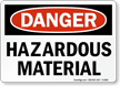 Hazardous Material Sign