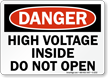 OSHA Danger Electricity Sign