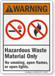 Hazardous Waste Material Only ANSI Warning Sign