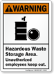 Hazardous Waste Storage Area Warning Sign