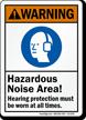 Hazardous Noise Area Hearing Protection Must Sign