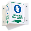Hearing Protection PPE Projecting Sign