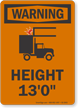 Height Low Clearance OSHA Warning Sign