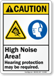 High Noise Area Hearing Protection Required Sign