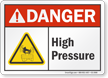 High Pressure ANSI Danger Sign
