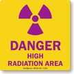 Danger High Radiation Area with Graphic