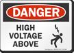 High Voltage Above OSHA Danger Sign