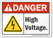 High Voltage ANSI Danger Sign