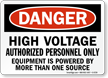 High Voltage Authorized Personnel Only Danger Sign