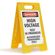 High Voltage Test In Progress Danger Floor Sign