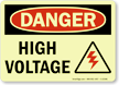 OSHA Danger Glow Sign