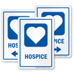 Hospice Hospital Sign With Heart Symbol
