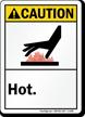 Caution ANSI Hot Sign