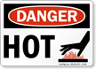 Danger Sign: Hot (with graphic)