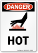 Hot OSHA Danger Vertical Sign