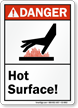 Hot Surface ANSI Danger Sign
