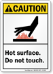 Caution (ANSI) Hot Surface Sign
