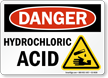 Hydrochloric Acid Danger Sign