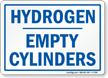 Hydrogen Empty Cylinders Sign