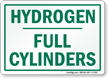 Hydrogen Full Cylinders Sign