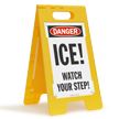 OSHA Danger Ice Watch Your Step Sign