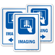 Imaging Hospital Sign with Xray Report Symbol