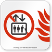 In Case of Fire Do Not Use Elevator NFPA 170 Sign