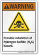 Inhalation Of Hydrogen Sulfide Hazard ANSI Warning Sign