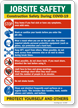 Jobsite Safety Construction Safety Protect Yourself Sign