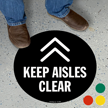 Keep Aisles Clear SlipSafe Floor Sign