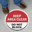 Keep Area Clear Do Not Block SlipSafe Floor Sign