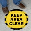 Keep Area Clear SlipSafe Floor Sign