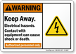 Keep Away Electrical Hazards, Contact Cause Shock Sign