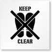 Keep Clear No Footprint Symbol Stencil
