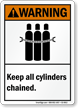Keep All Cylinders Chained ANSI Warning Sign