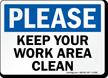 Housekeeping Clean Signs Label