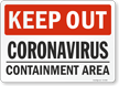 Keep Out Containment Area Medical Isolation Sign