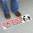 Keep Your Distance Thank your for Social Distancing SlipSafe Floor Sign